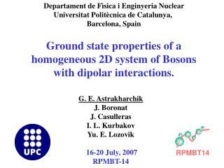 Departament de F ì sica i Enginyeria Nuclear Universitat Polit è cnica de Catalunya,