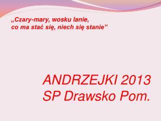 ANDRZEJKI 2013 SP Drawsko Pom .