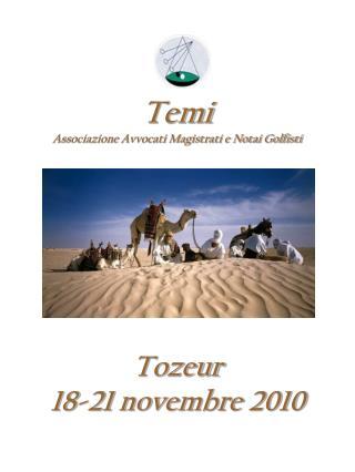 Tozeur 18-21 novembre 2010