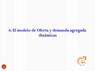 6. El modelo de Oferta y demanda agregada dinámicas