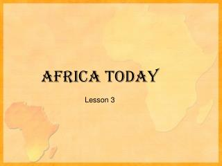 Africa Today