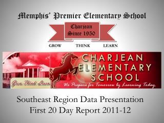 Southeast Region Data Presentation First 20 Day Report 2011-12