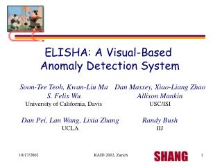 ELISHA: A Visual-Based  Anomaly Detection System
