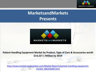 Patient Handling Equipment Market by Product, Type of Care