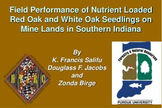 By  K. Francis Salifu Douglass F. Jacobs  and Zonda Birge