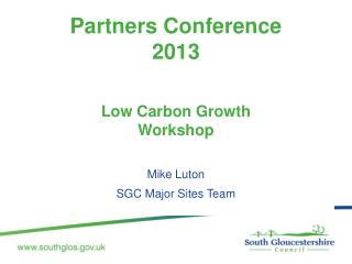 Partners Conference  2013 Low Carbon Growth  Workshop