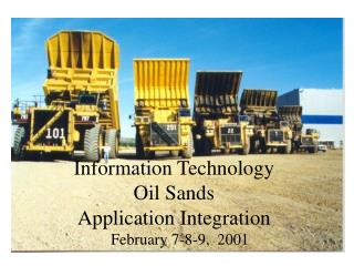 Information Technology Oil Sands Application Integration