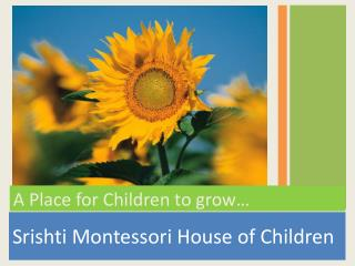 Srishti Montessori House of Children