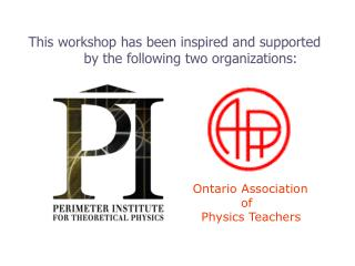 This workshop has been inspired and supported by the following two organizations: