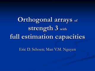 Orthogonal arrays  of  strength 3  with full estimation capacities