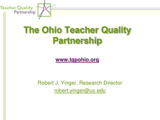 The Ohio Teacher Quality Partnership tqpohio