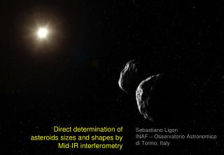Direct determination of asteroids sizes and shapes by Mid-IR interferometry