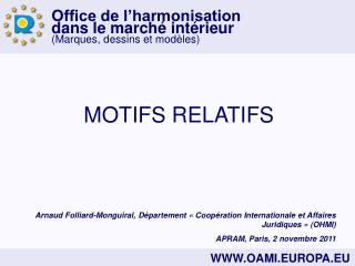 MOTIFS RELATIFS