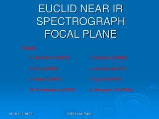 EUCLID NEAR IR SPECTROGRAPH FOCAL PLANE
