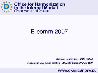 E-comm 2007