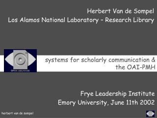 Frye Leadership Institute  Emory University, June 11th  2002