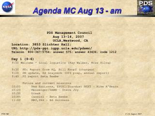Agenda MC Aug 13 - am