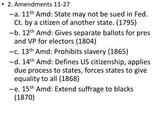 2. Amendments 11-27