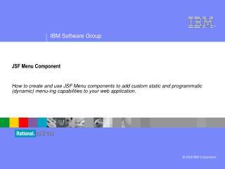 JSF Menu Component