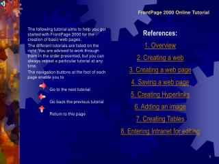 FrontPage 2000 Online Tutorial