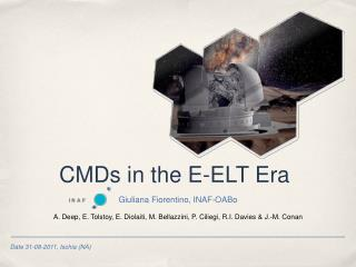 CMDs in the E-ELT Era