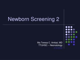 Newborn Screening 2