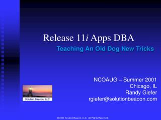 Release 11 i  Apps DBA