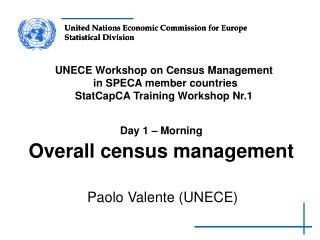 Day 1   Morning  Overall census management