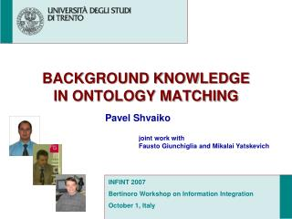 BACKGROUND KNOWLEDGE  IN ONTOLOGY MATCHING