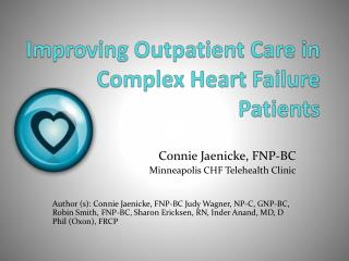 Improving Outpatient Care in Complex Heart Failure Patients