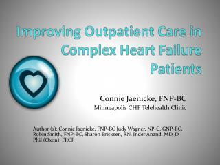 Improving Outpatient Care in Complex Heart Failure Patients