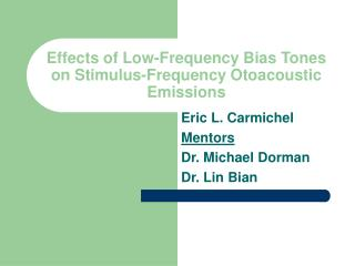 Effects of Low-Frequency Bias Tones on Stimulus-Frequency Otoacoustic Emissions