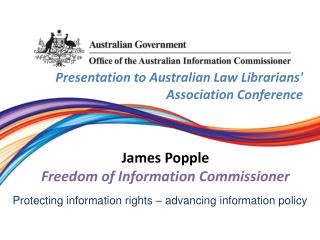 Presentation  to Australian Law Librarians' Association  Conference James Popple