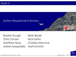 System Requirements Review