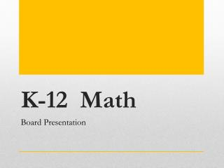 K-12  Math