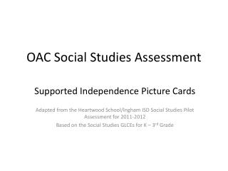 OAC Social Studies Assessment
