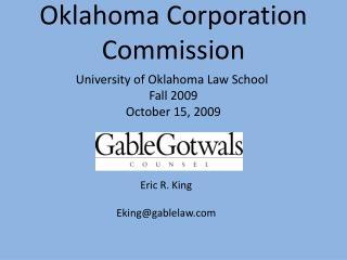 Oklahoma Corporation Commission
