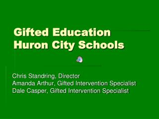Gifted Education Huron City Schools