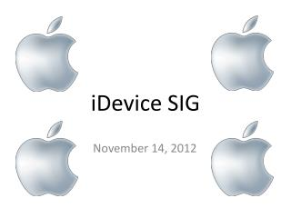 iDevice SIG
