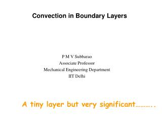 Convection in Boundary Layers