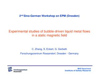 2 nd  Sino-German Workshop on EPM (Dresden)