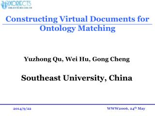 Constructing Virtual Documents for Ontology Matching