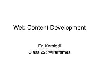 Web Content Development