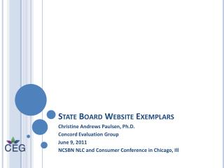 State Board Website Exemplars