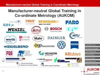 Manufacturer-neutral Global Training in Coordinate Metrology