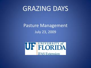 GRAZING DAYS