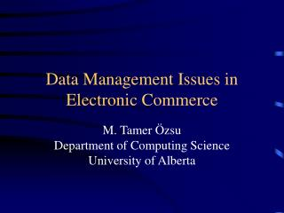 Data Management Issues in Electronic Commerce