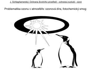 J. Schlaghamerský: Ochrana životního prostředí - ochrana ovzduší - ozon