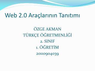 Web 2.0 Ara�lar?n?n Tan?t?m?