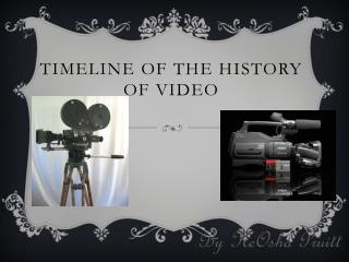 Timeline of the history of video
